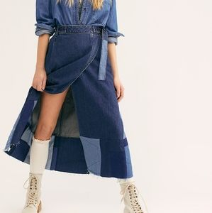 NWT Free People Wild is the Wind Wrap Skirt XS